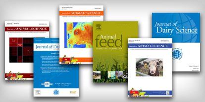 Collage of peer-reviewed research journal covers.